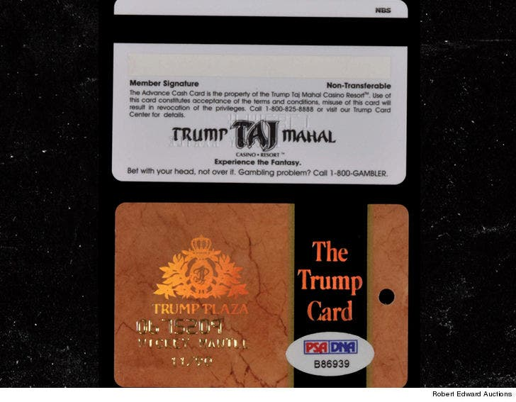 Mickey Mantles Signed Trump Casino Gambling Cards Hit Auction Block