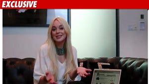 Lindsay Shoots Commercial During HOUSE ARREST
