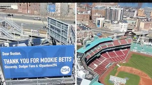 L.A. Dodgers Fans Troll Red Sox w/ 'Thanks For Mookie' Billboard Next To Fenway