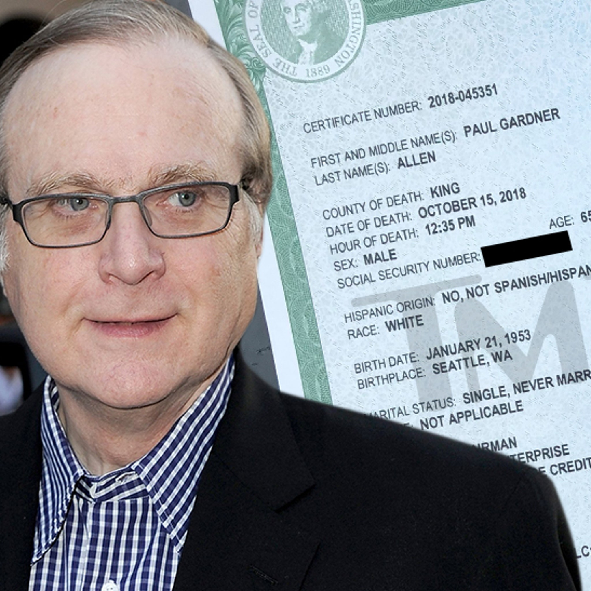 Paul Allen Death Certificate Lists Septic Shock and Lymphoma as