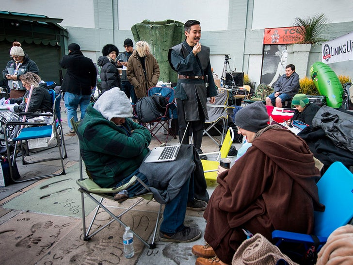 """""""Star Wars"""" Line Outside TCL Chinese Theatre"""