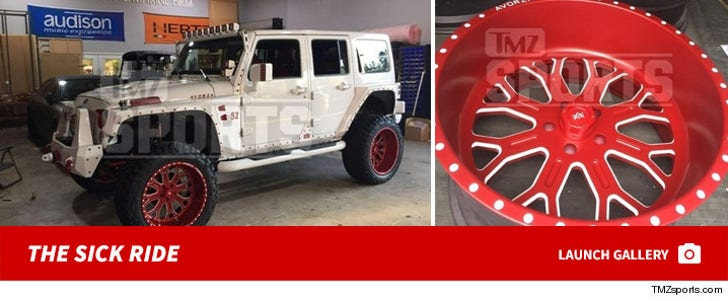 Yoenis Cesepedes' Hooked Up Jeep