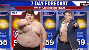 Washington Nationals Belly-Flop Guy Strips Again for Weather Report