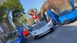 Rich the Kid Jumps on Lambo During Video Shoot