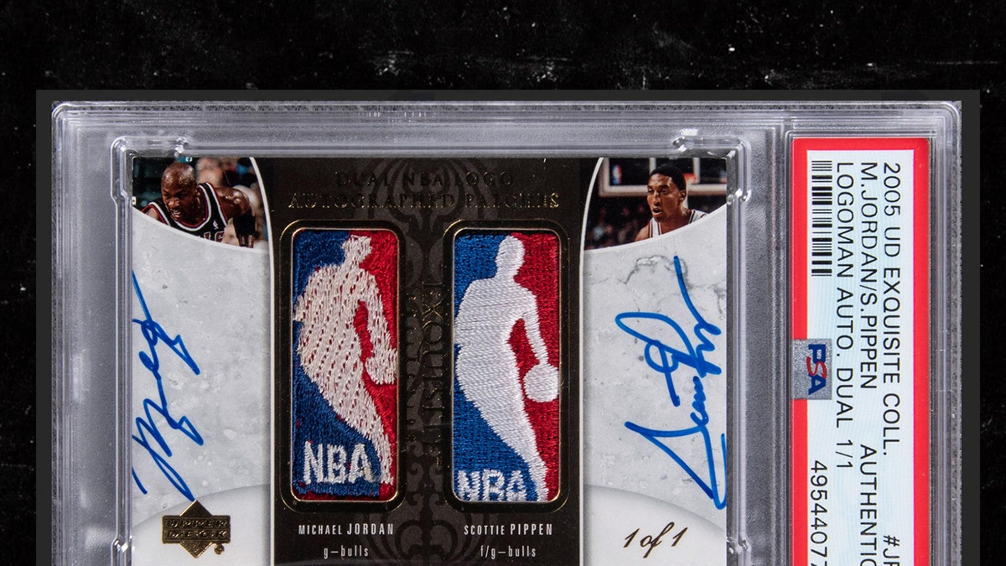 Michael Jordan & Scottie Pippen Signed Super-Rare Basketball Card Hits Auction Block