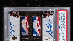 Michael Jordan & Scottie Pippen Signed Super-Rare Basketball Card Hits Auction Block