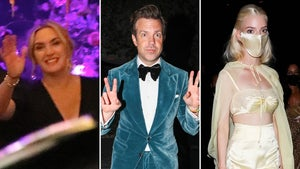Jason Sudeikis, Kate Winslet Celebrate Emmy Win at After-Parties