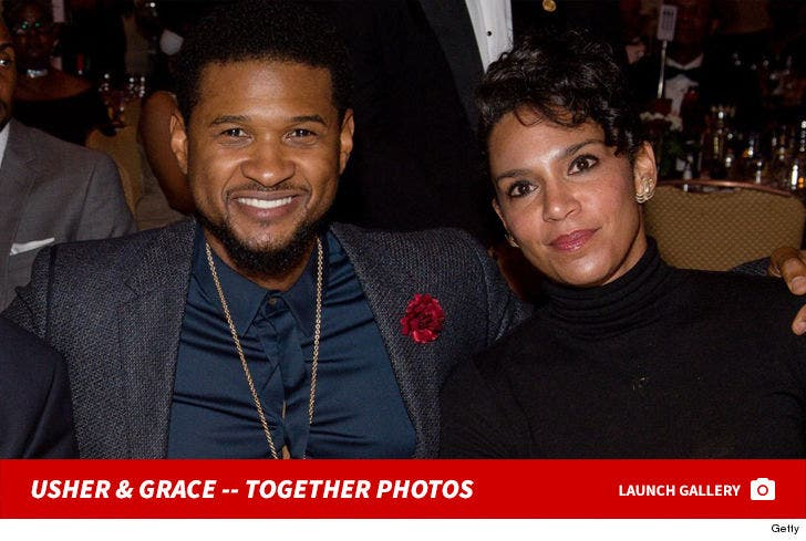 Usher and Grace Miguel -- Together Photos