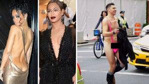 Rihanna -- Met Gala Cleavage Upstaged by Fashionable Balls