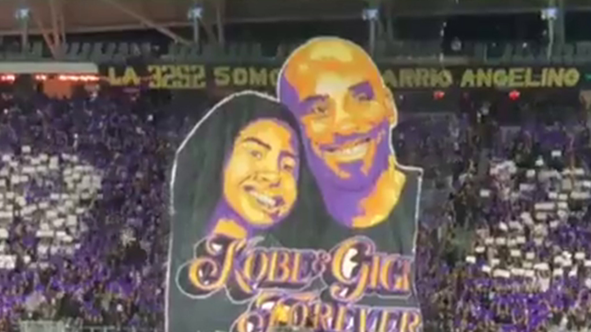 LAFC Fans Unveil Amazing Kobe And Gianna Bryant Tribute At Game