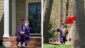 College Grad Picks Up Diploma from UPS Driver, Has At-Home Ceremony