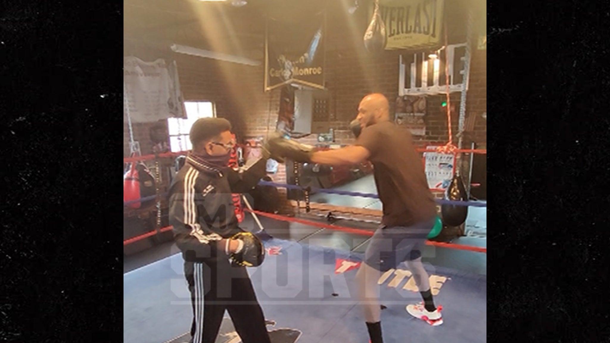 Ламар Одом сокрушает тренировку Сеша в преддверии знаменитого боксерского боя