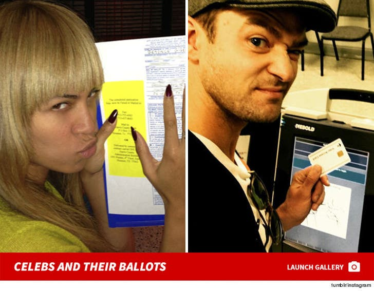 Celebs at the Polls