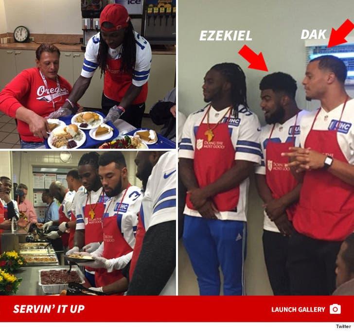 Dallas Cowboys Give Back -- Salvation Army Thanksgiving