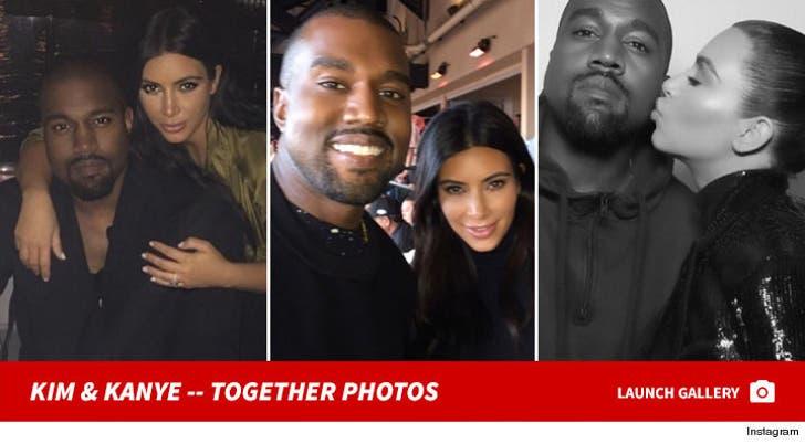 Kim Kardashian and Kanye West -- The Happy Couple