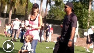 Tiger Woods & Elin Nordegren -- Reunited and It Feels So Awkward