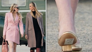 Tiffany Trump Boards Air Force One with Ivanka with Price Tag Still on Her Shoe