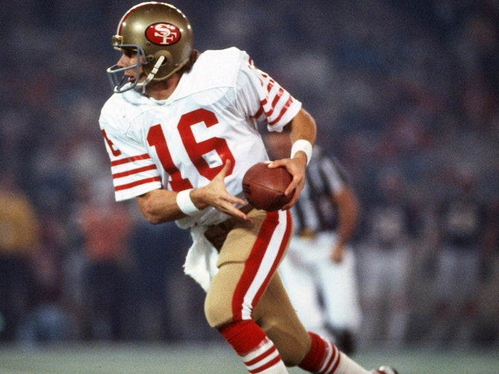 Joe Montana on the Field
