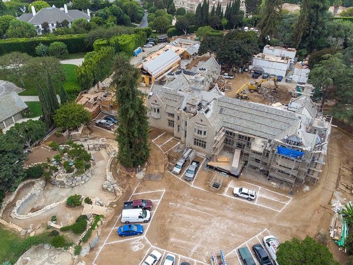 Playboy Mansion Under Construction
