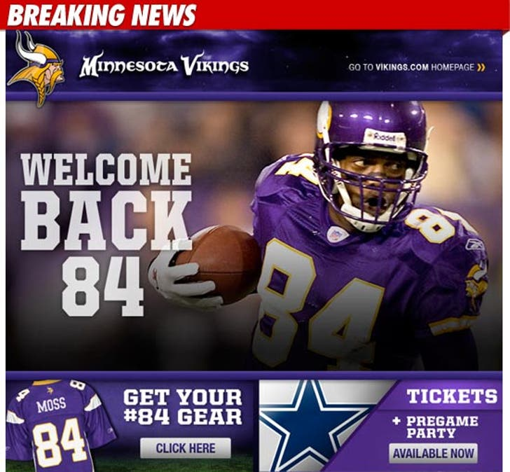 online retailer 41754 2bc9c Randy Moss Trade -- Minnesota Vikings Already Selling Moss ...