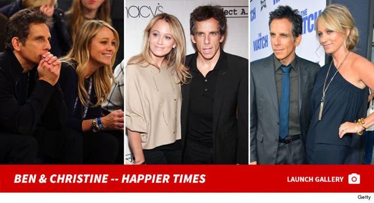 Ben Stiller and Christine Taylor -- Happier Times