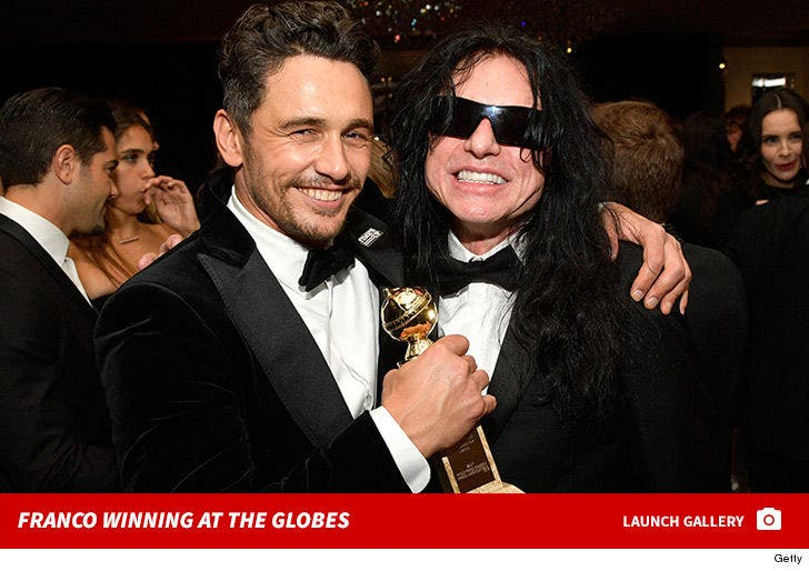 James Franco Winning at the Golden Globes