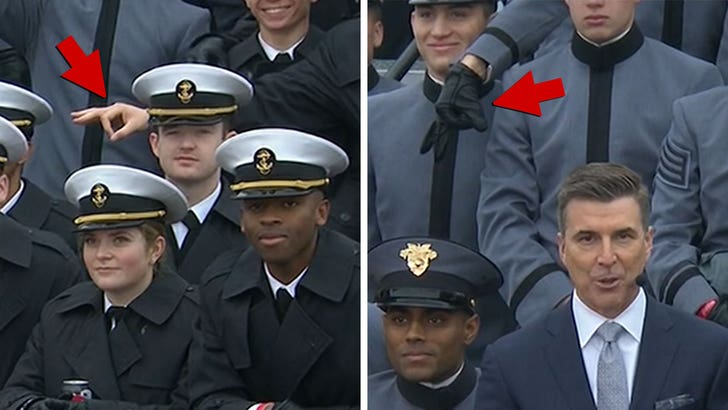 USA service academies: Hand gestures at game were not racist