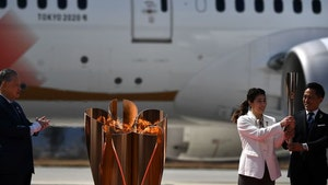 Olympic Torch Touches Down In Japan, Huge Crowd Cheers