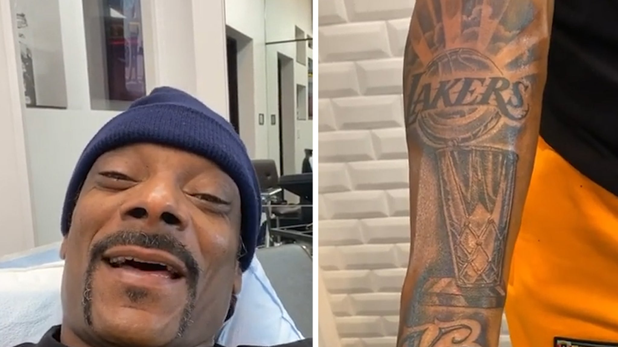 Snoop Dogg New Lakers Championship Tattoo ... with Kobe Tribute