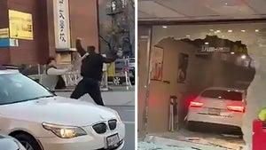 Wild Parking Spot Brawl in NYC Turns Into Violent Road Rage Crash