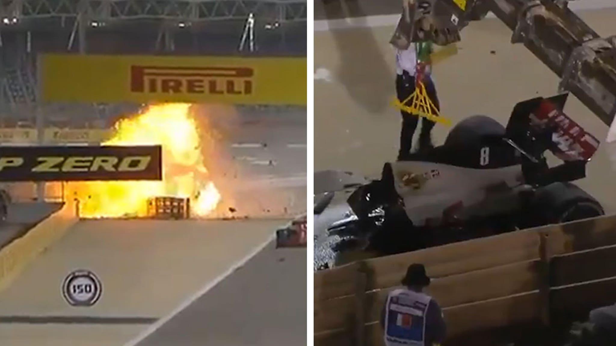 F1 Driver Romain Grosjean Survives Fiery Crash, Update from Hospital