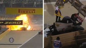 F1 Driver Romain Grosjean Survives Fiery Crash