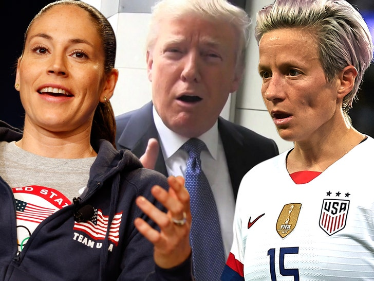 Megan Rapinoe's Girlfriend Craps All Over President Trump, 'Rude Man'