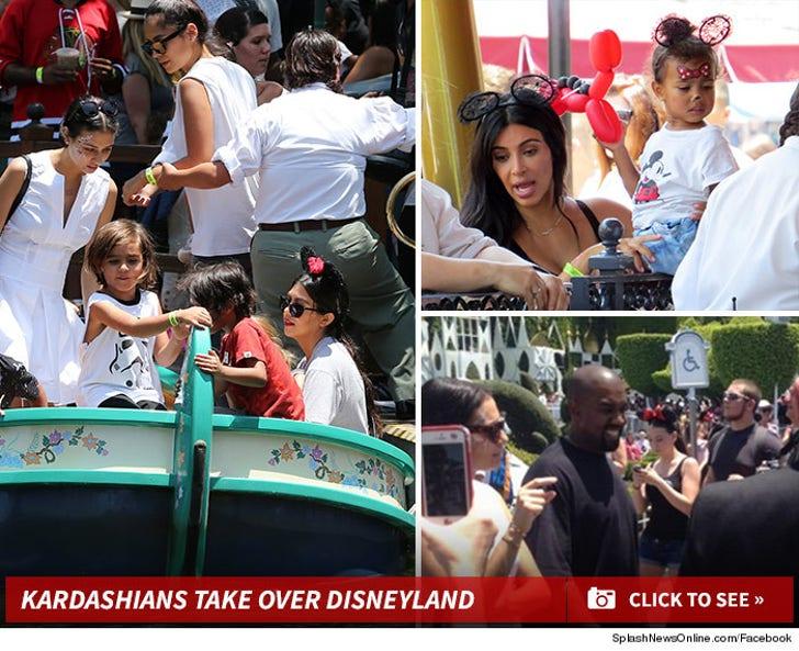 Kardashians Take Over Disneyland