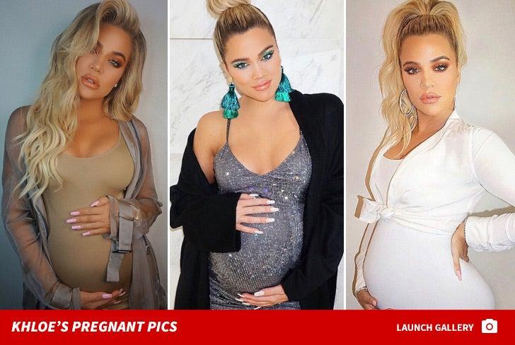 Khloe Kardashian's Pregnant Pics