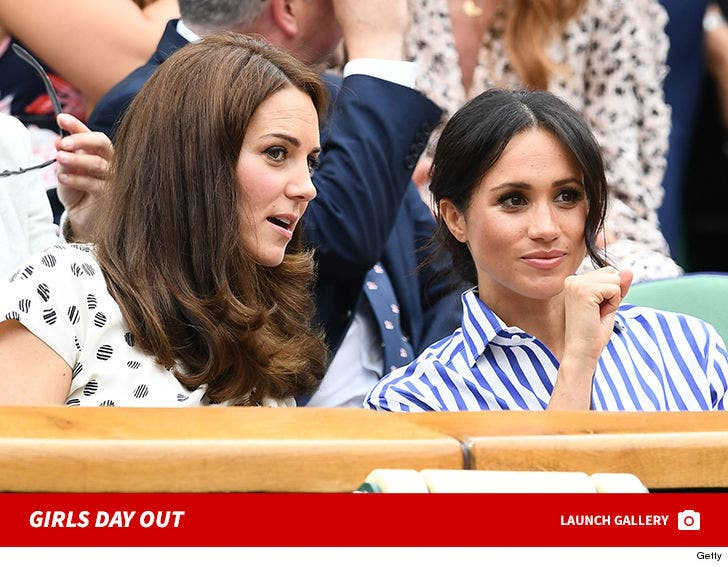 Kate Middleton & Meghan Markle Cheer on Serena Williams