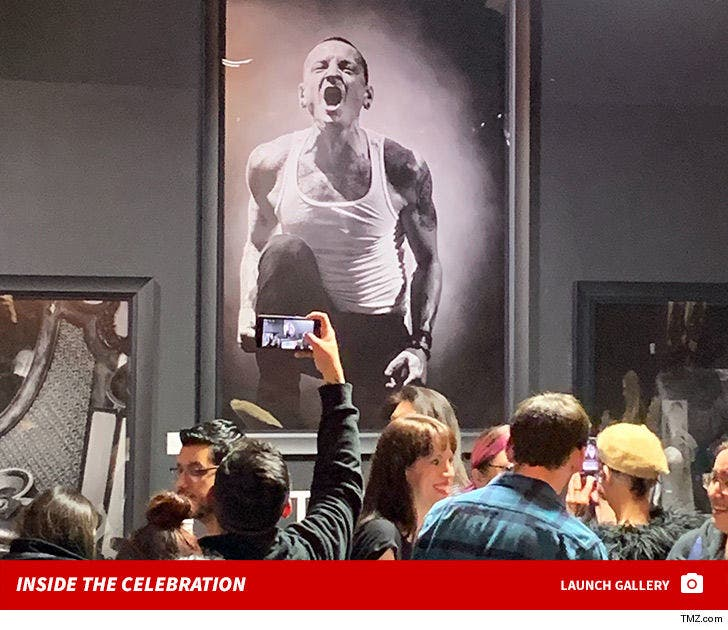 Chester Bennington Art Exhibit Draws Huge Crowds