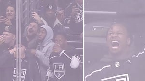 Todd Gurley Parties Hard At L.A. Kings Game, Chugs Beers With Dodgers Stars!