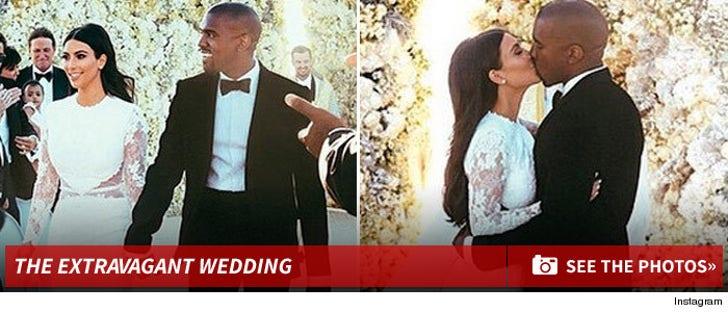 Kim Kardashian & Kanye West -- TMZ WEDDING CRASH