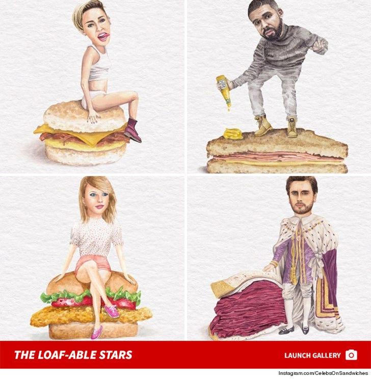 Instagram's Celebs on Sandwiches