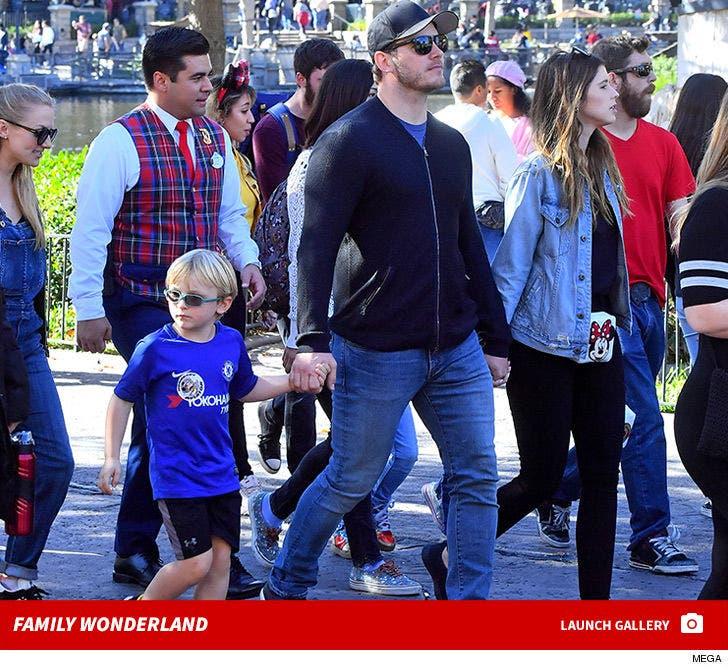 Chris Pratt's Family Day at Disneyland