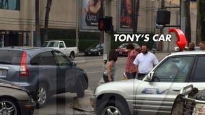 Tony Shalhoub -- Multi-Car Crash at Paramount Studios