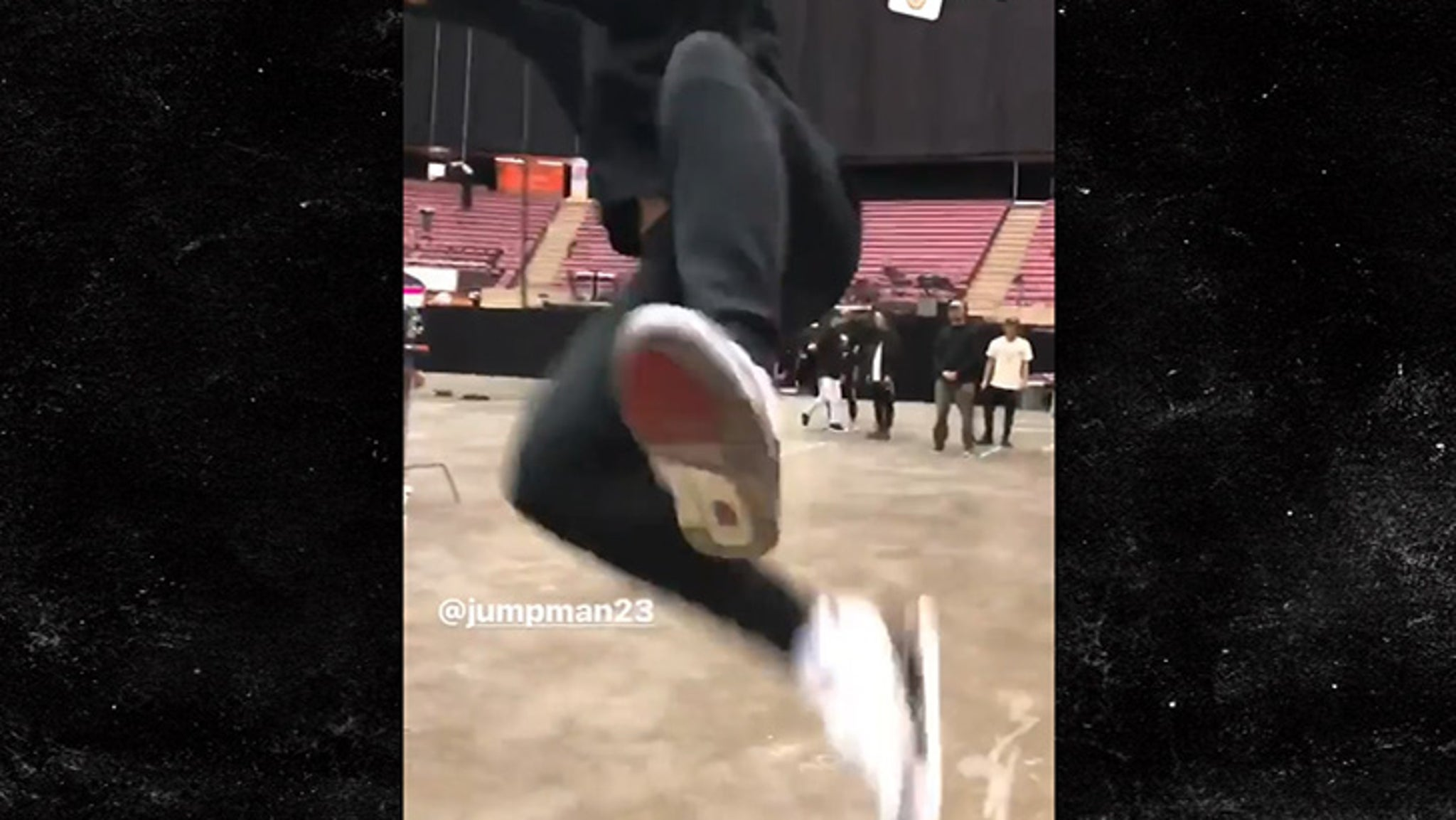 Justin Timberlake Stretchin' It Out For Super Bowl Show