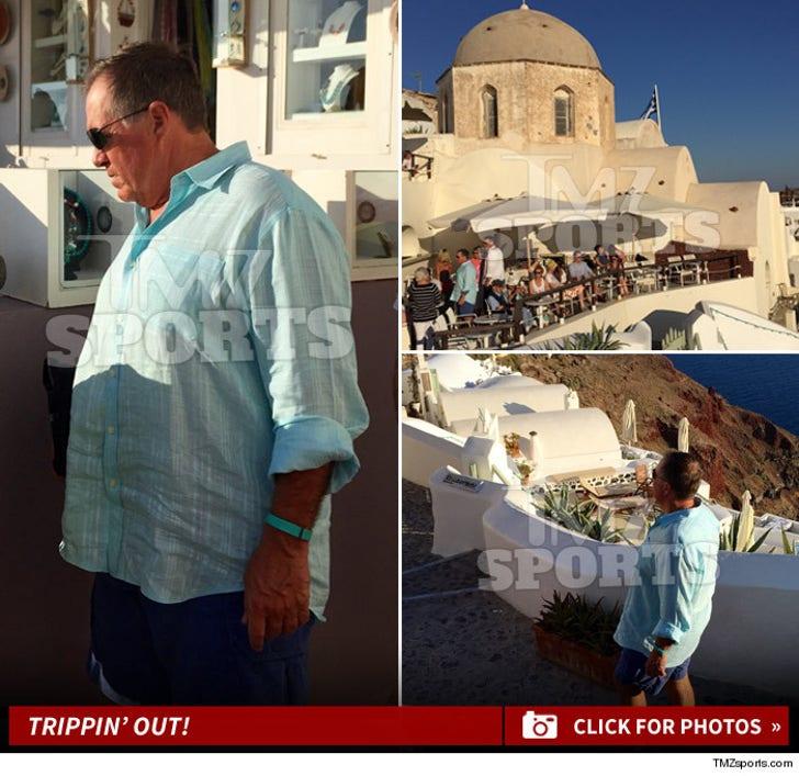 Bill Belichick -- Vacationing in Santorini
