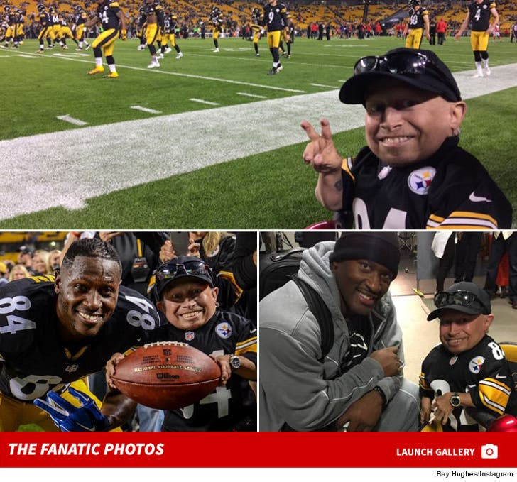 Verne Troyer at the Steelers Game