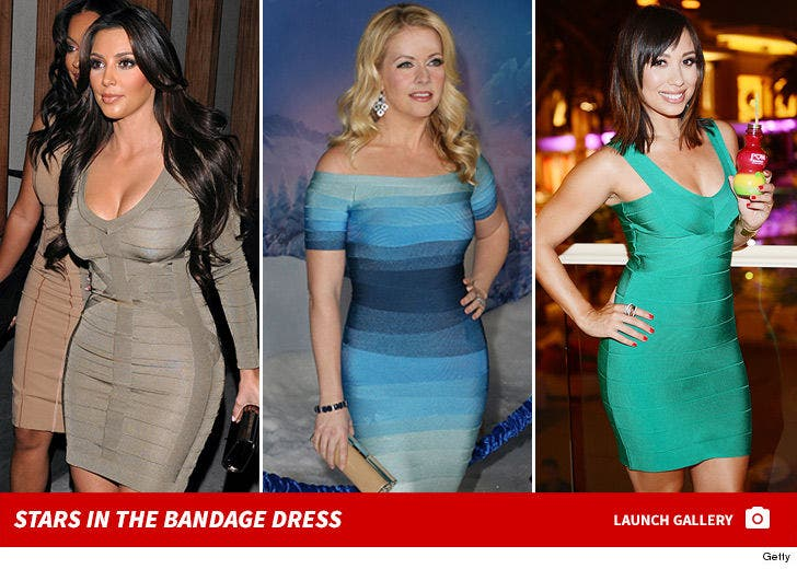 Stars in the Bandage Dress