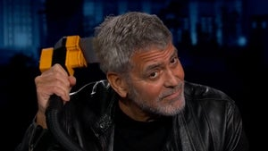 George Clooney Busts Out Flowbee Skills on 'Kimmel'
