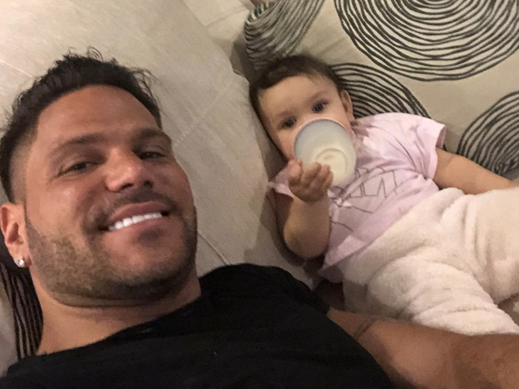 Ronnie Ortiz-Magro and His Daughter Ariana Together