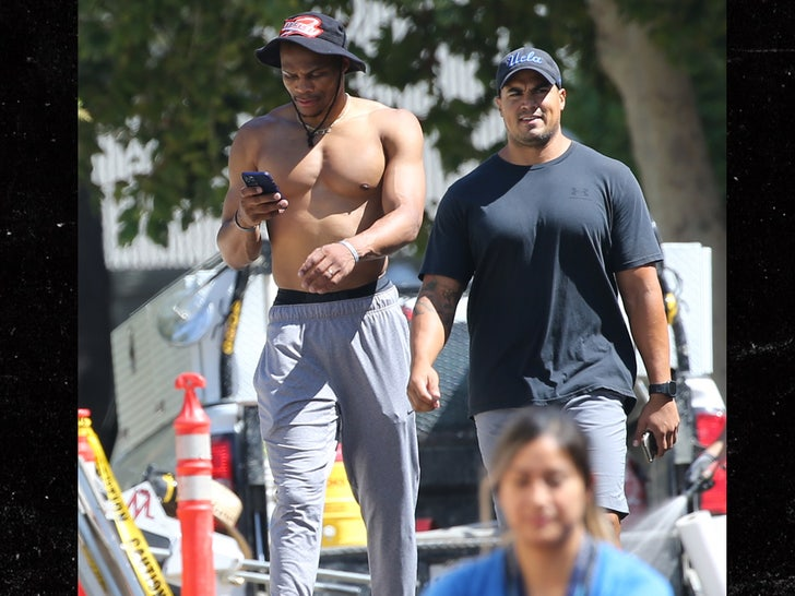 Russell Westbrook Crushes Shirtless Workout In L.A., Feeling 'Great' After Laker Trade.jpg
