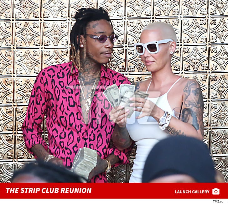 Wiz Khalifa and Amber Rose -- We're Still Down for Each Other ... Just Add Ass!